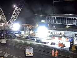 Gone in 60 seconds: Watch six-day Telford bridge operation crammed into a minute