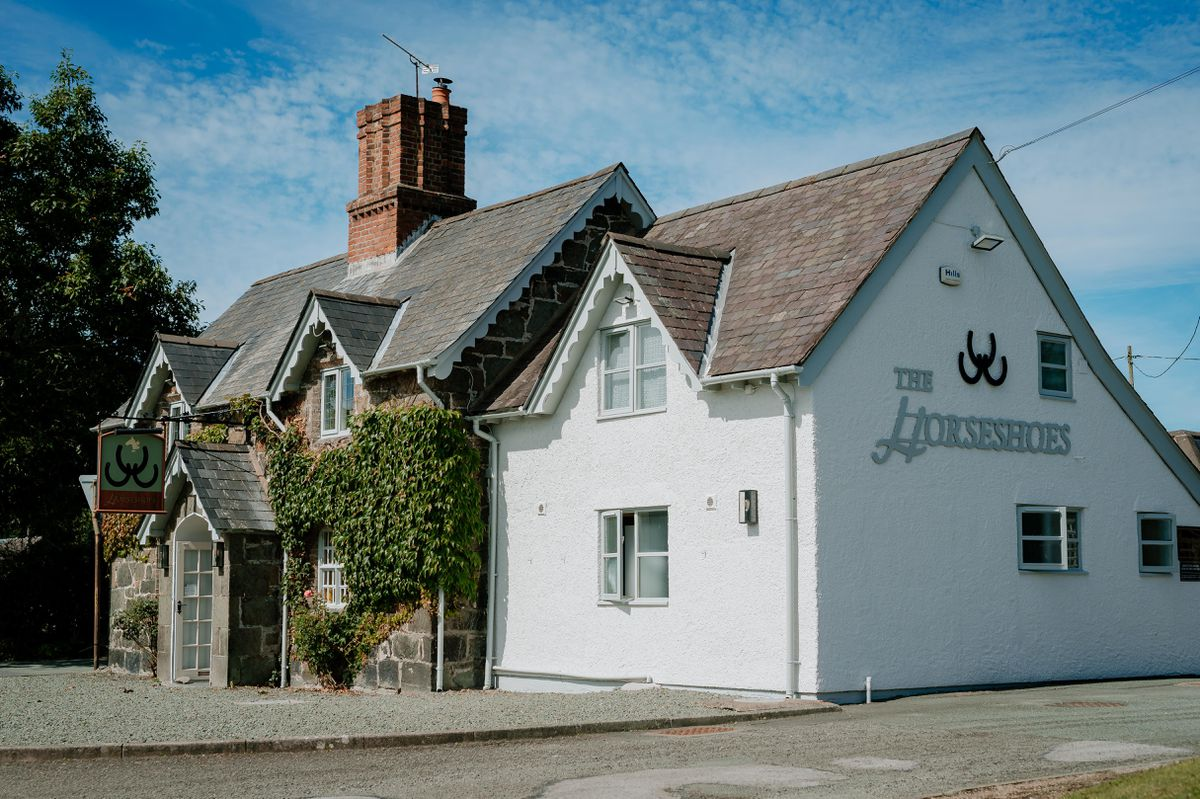 The Horseshoes Inn at Berriew attracts customers from the English side of the border