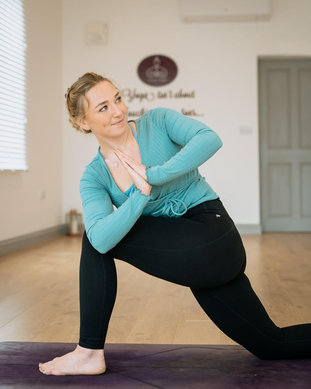 Chloe Beeson, 27, has now opened Chloe Yoga in Bishop's Castle
