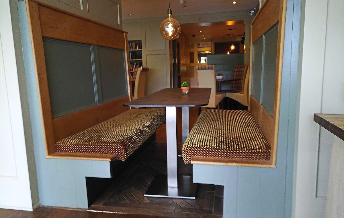 The Peach Tree bar accommodates customers from Momo's