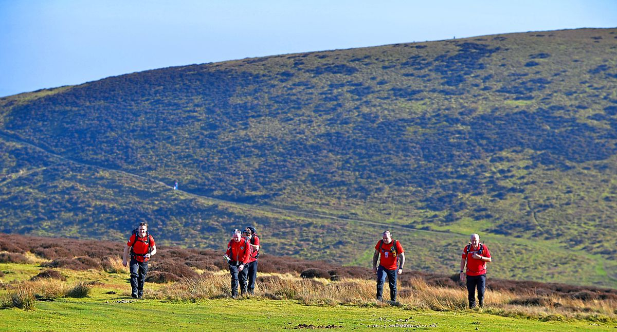 The Long Mynd provides a back drop for a weekend exercise