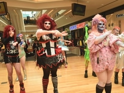 Drag queens take over Birmingham Bullring for Red Nose Day event