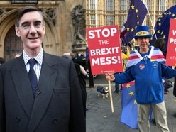 This anti-Brexit protester would not stop heckling Jacob Rees-Mogg