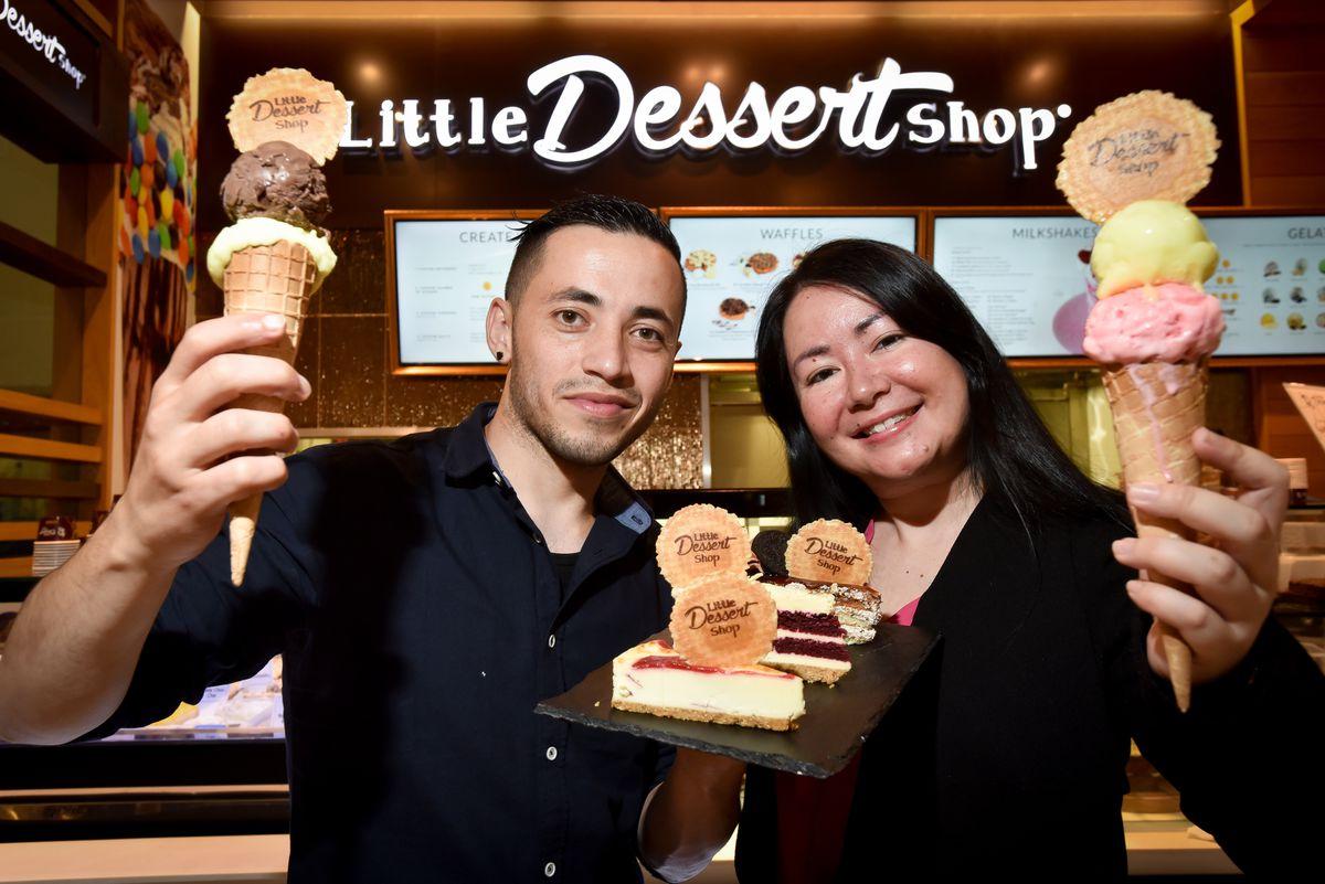 Little Dessert Shop area manager Roman Aslamzada (left)