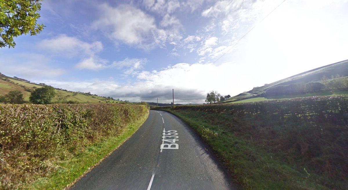 The B4355 at Dolfor. Pic: Google