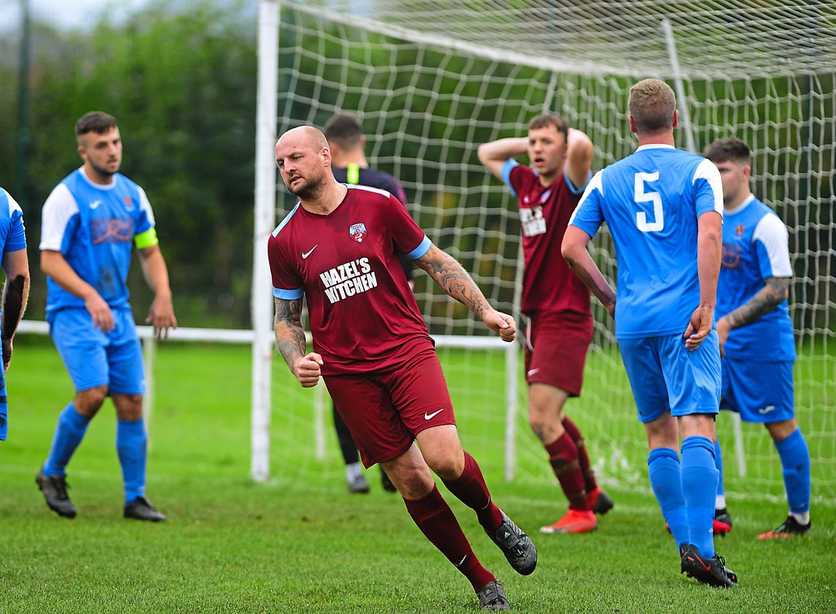 Louis Jones rues a missed chance for Dawley Town during their defeat to Ludlow at the top of the Salop Leisure League on Saturday
