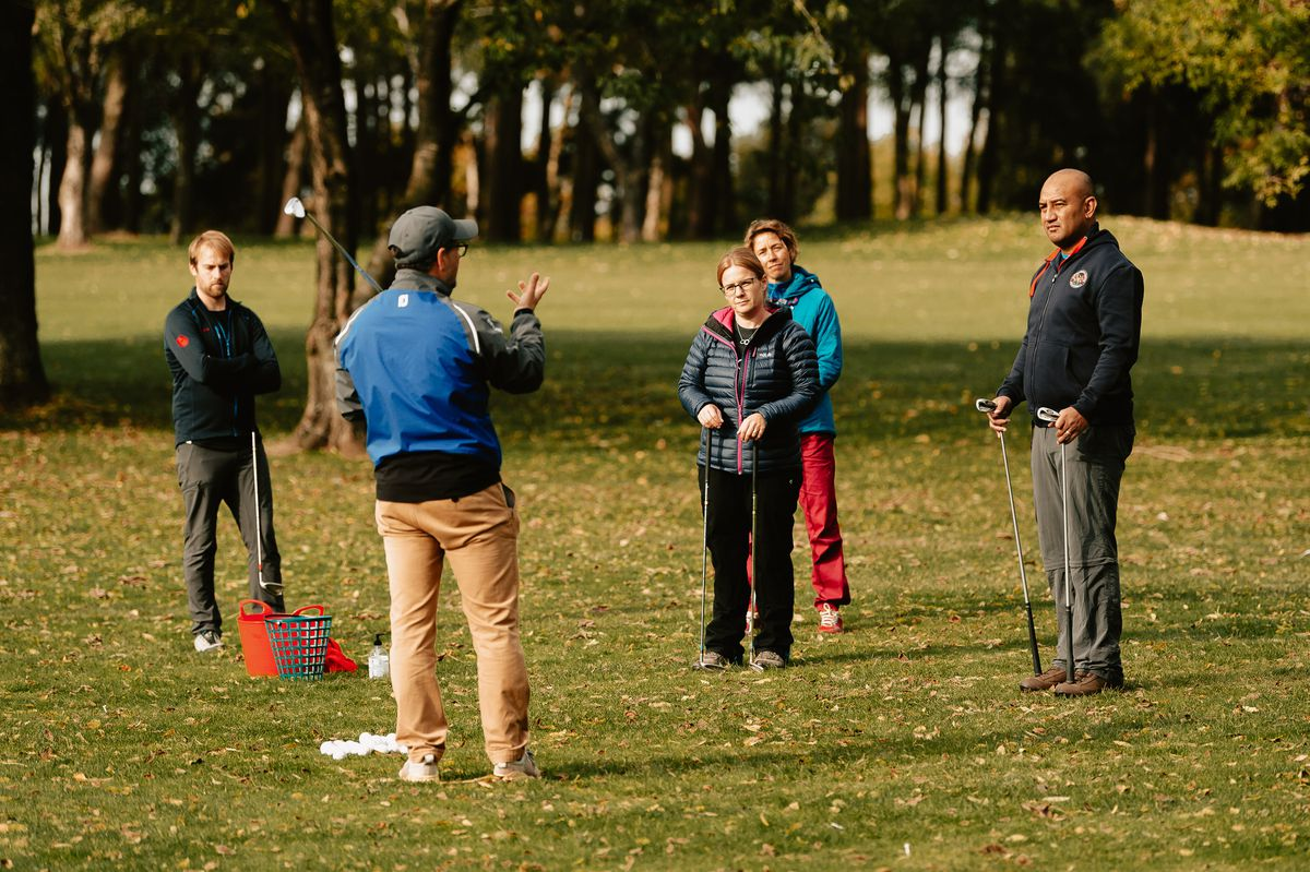 Golf coach Mark Shervill shares his skills with forces personnel