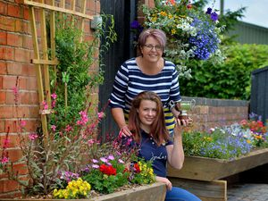 Sarah Marshall and daughter Maddie Sanderson, 14, won the gardening competition