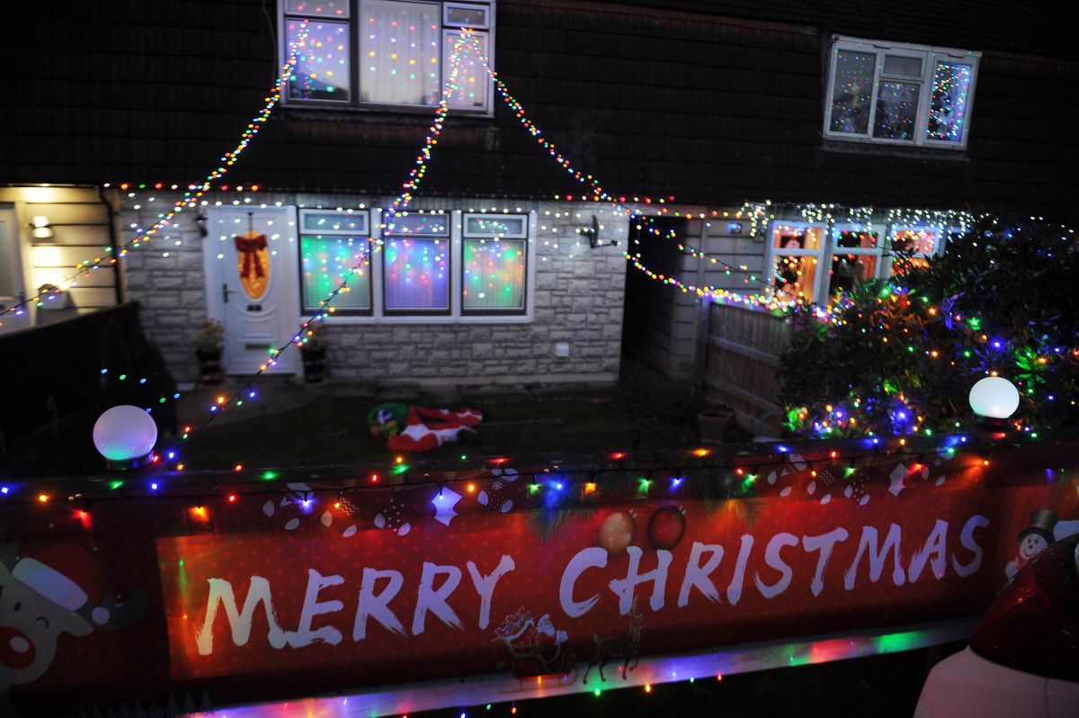 Some of the Christmas lights, at West Place, Gobowen..