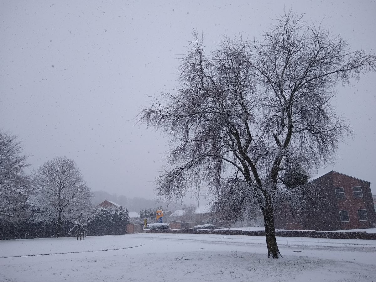 Snow at the Shropshire Star offices in Ketley, Telford
