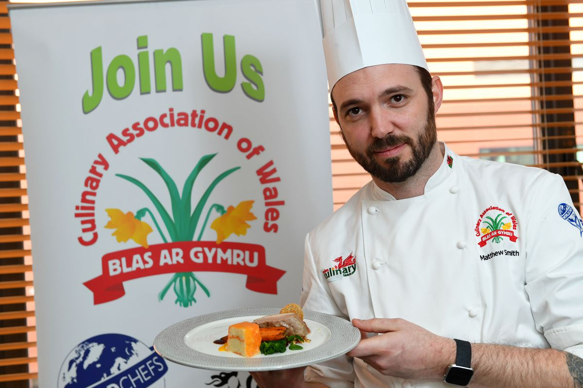 Matthew Smith competing for Wales at the IKA Culinary Olympics.