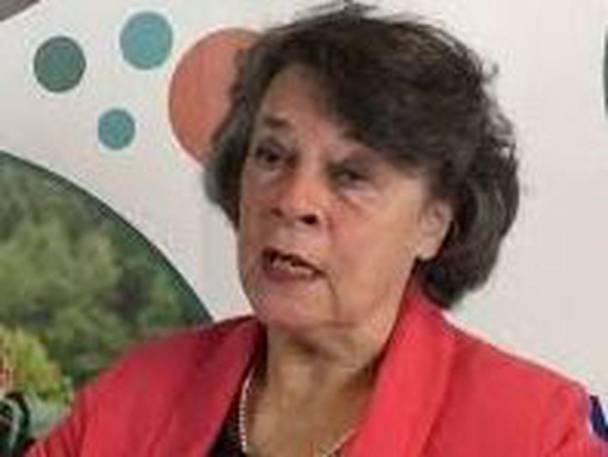 Powys County Council leader Councillor Rosemarie Harris