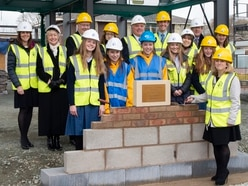 First brick laid at £1.45 million arts venue near Oswestry