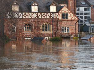 Flooding in Shrewsbury. Photo: Julie Bull.
