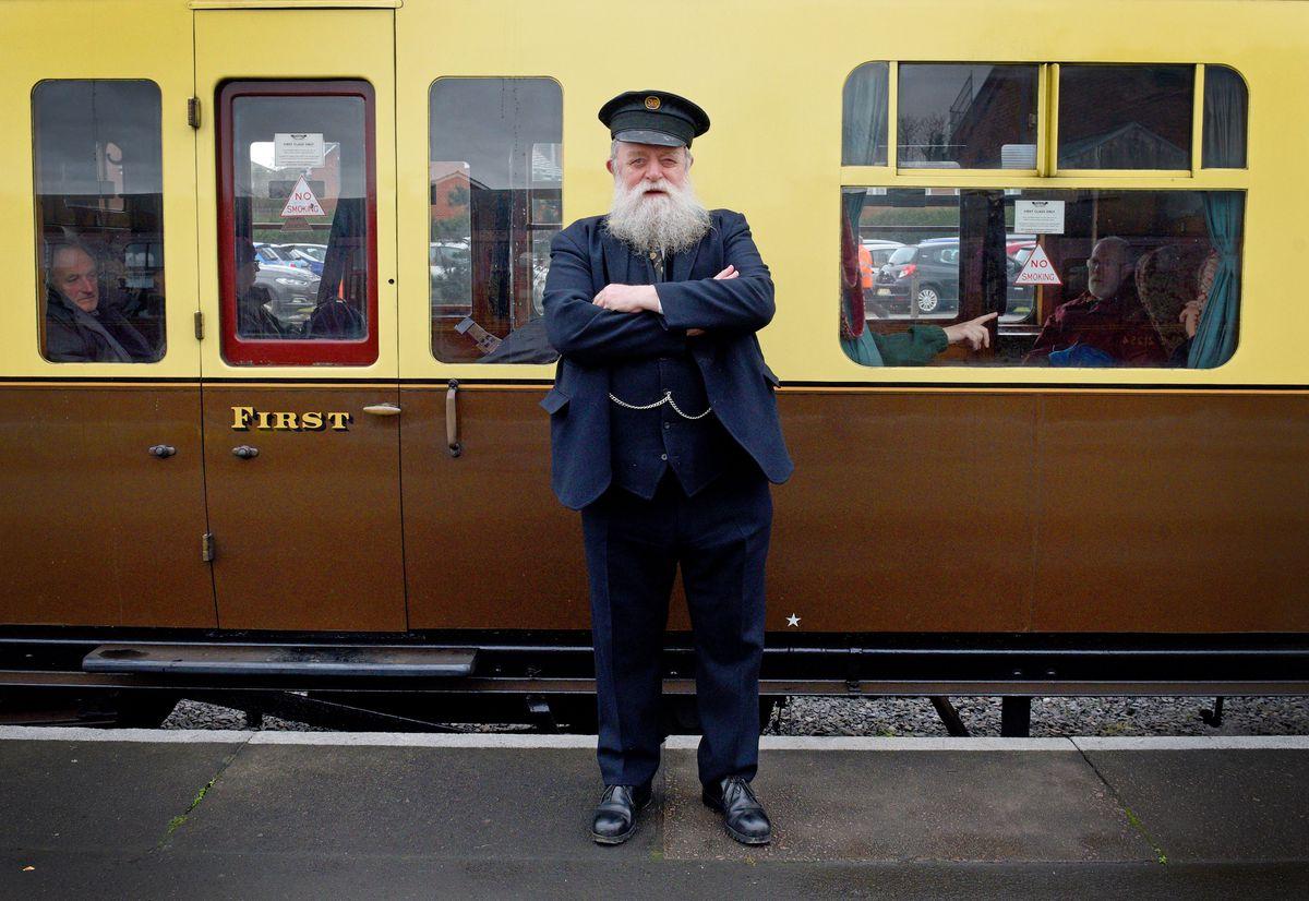 Steam Gala at Severn Valley Railway's Kidderminster Station..Porter David Overton