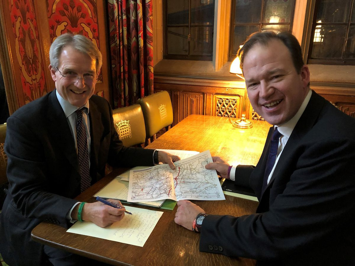 North Shropshire MP Owen Paterson and transport minister Jesse Norman