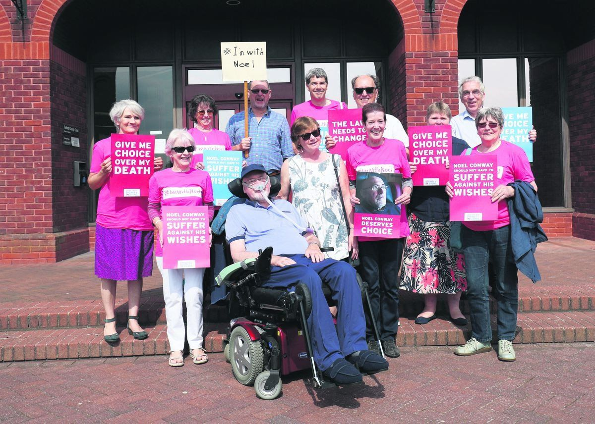 Noel and Carol Conway with supporters