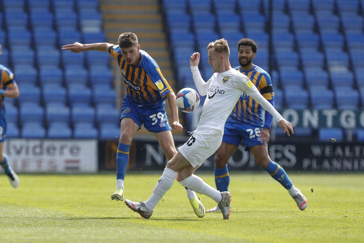Tom Bloxham impressed on his Shrewsbury Town full debut against Oxford (AMA)