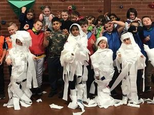 Youngsters at one of the previous halloween clubs