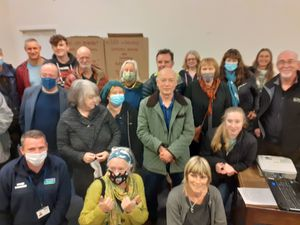 The Coton Hill campaigners draw up their anti-pollution battle plan