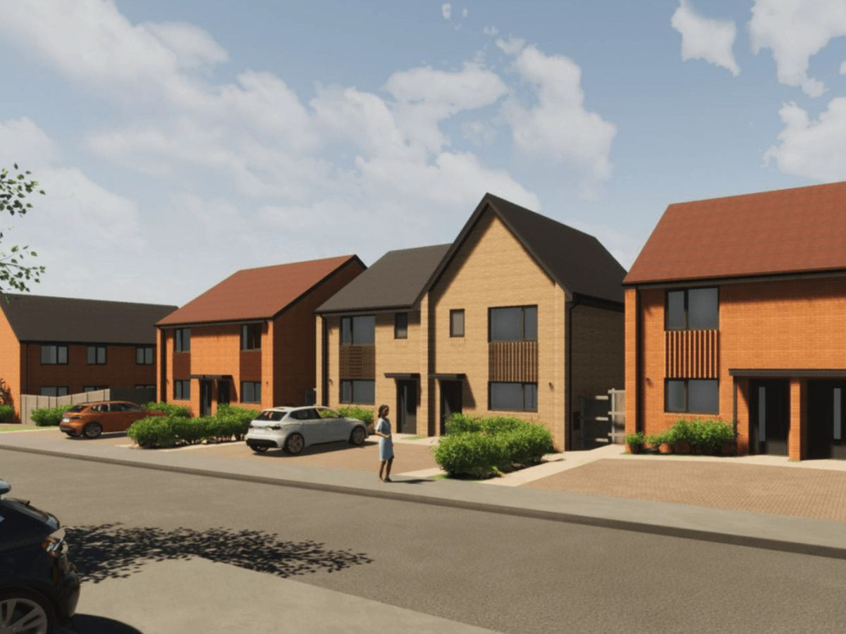 An artist's impression of how the homes will look