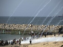 Palestinians wounded in Gaza beach protest
