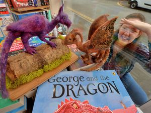 Ceri Smith from Dragons of Shropshire is creating a trail for half term around the town for people, using her little dragons that she has made. At Burway Books in Church Stretton