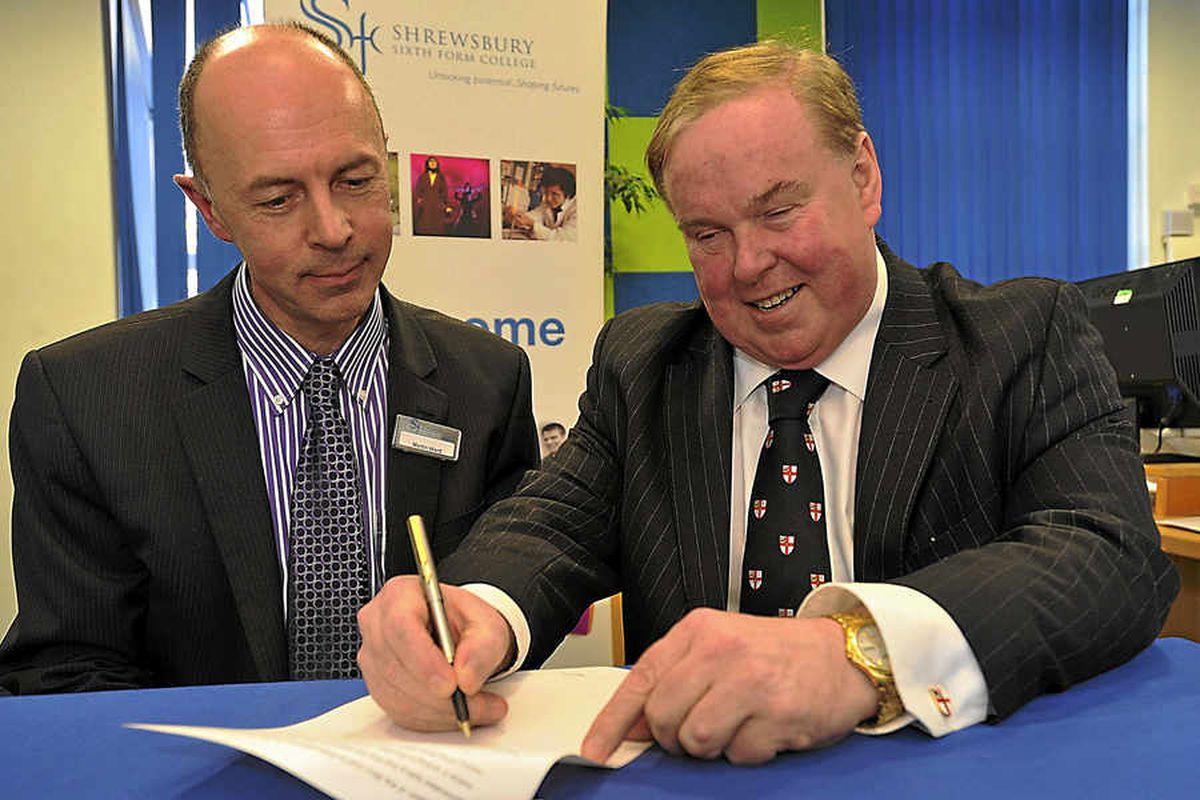 Professor Tim Wheeler and Martin Ward