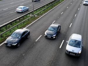 Cars on the M1 motorway