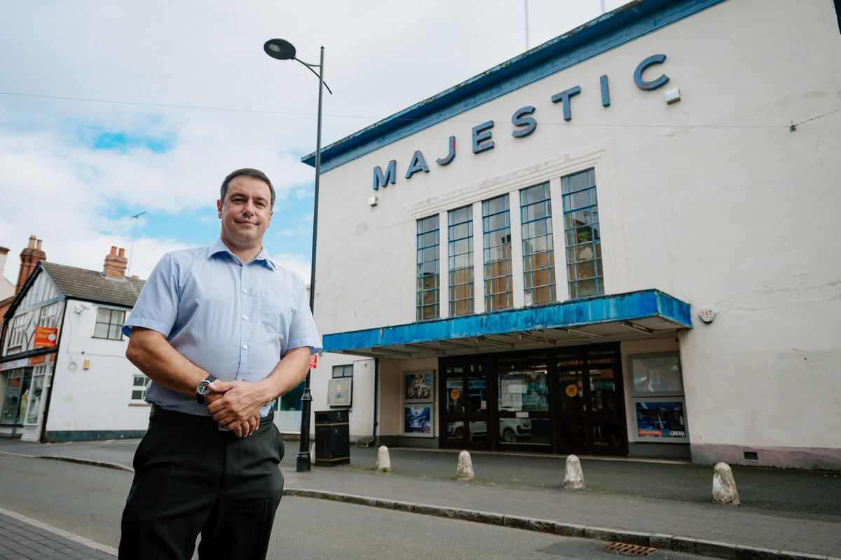 Manager James Frizzell at Majestic Cinema in Bridgnorth