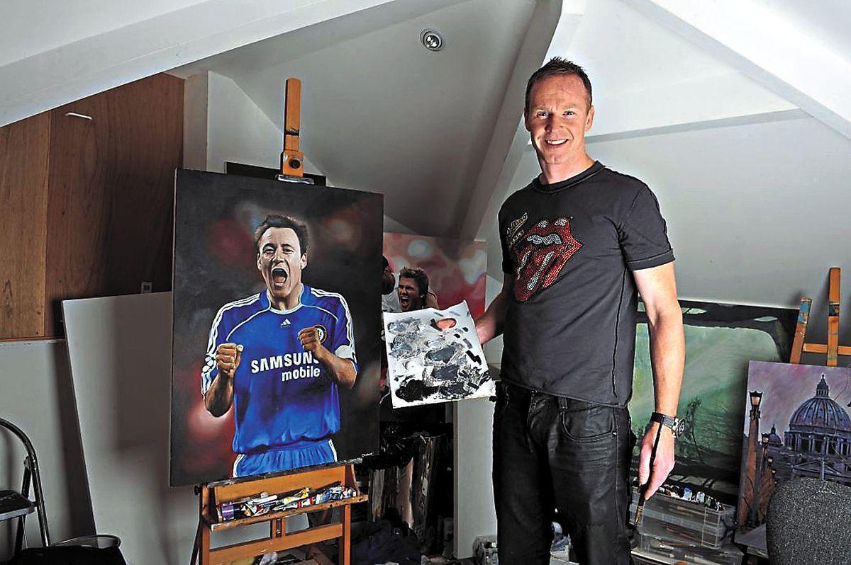 Craddock in his studio at home in Cookley