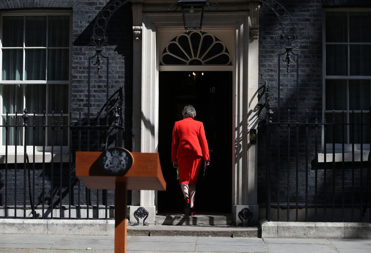 Theresa May spoke of her pride, saying she was privileged to be the UK's second woman prime minister and that she would not be the last