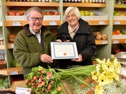 Albrighton florists and greengrocers recognised for 50 years of service