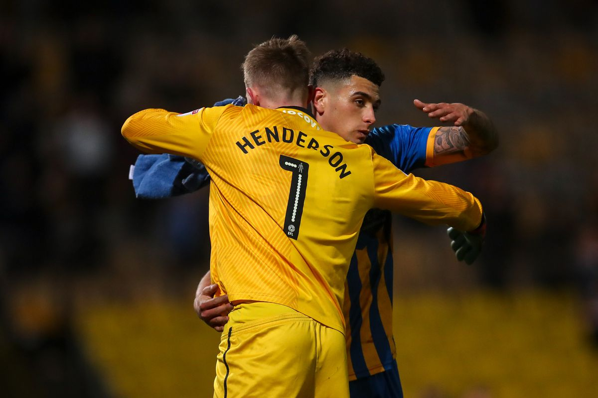 Dean Henderson and Ben Godfrey who played together at Shrewsbury Town are both in the provisional England Euro 2020 squad