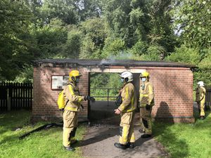 Arson attack at a passenger station used by Severn Valley Railway. Photo: Craig Jackson
