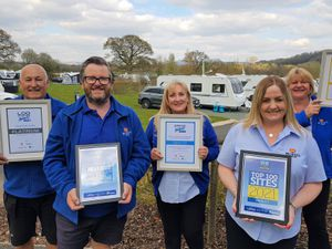Ludlow Touring Park's staff celebrate their recent awards success