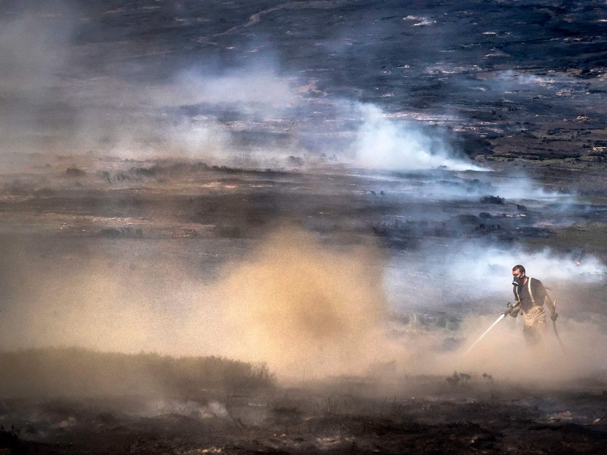 Saddleworth Moor wildfire