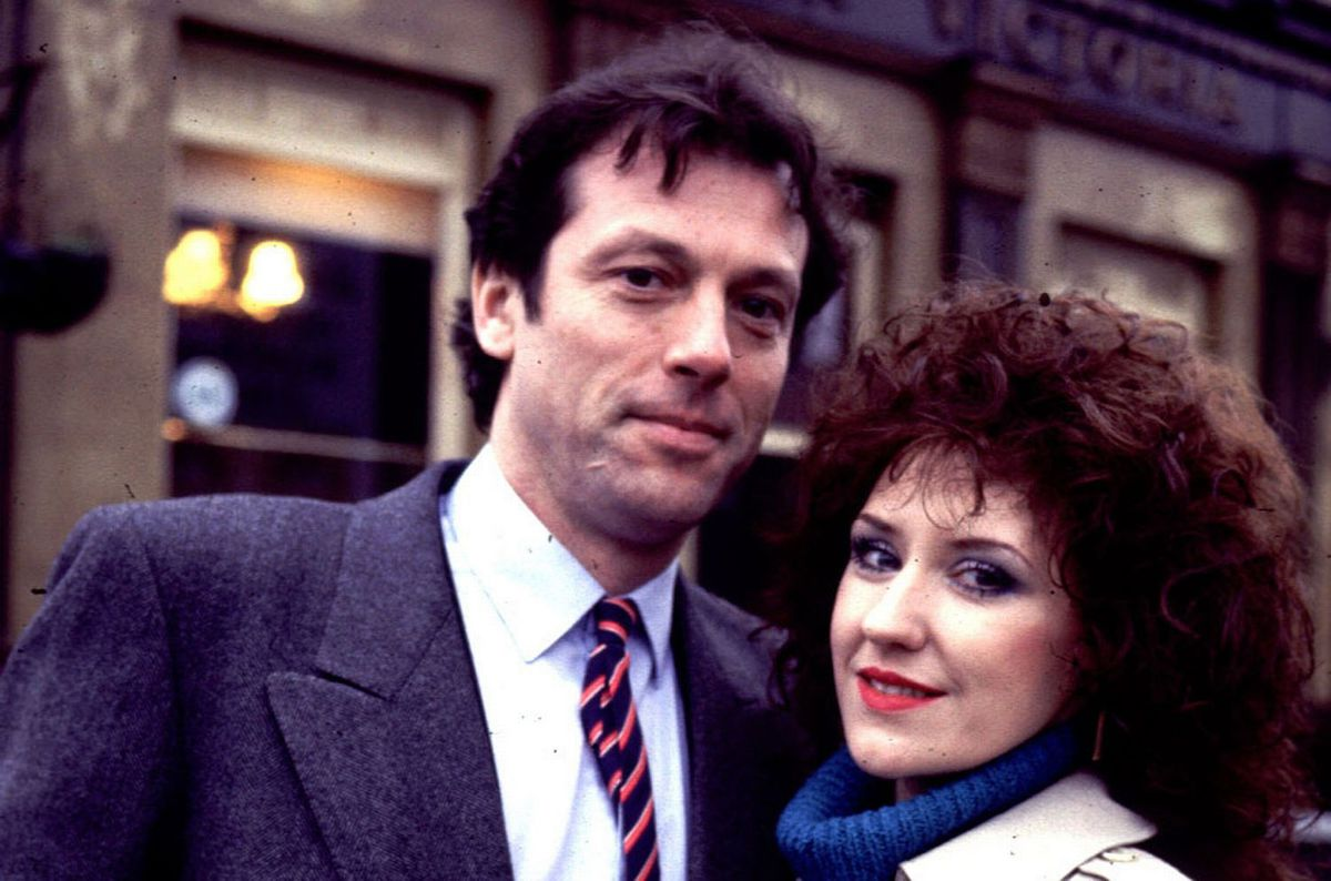 Leslie Grantham with Anita Dobson in Eastenders