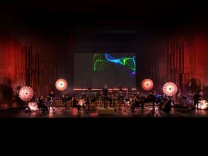 An orchestra plays the Fitbit Stress Symphony