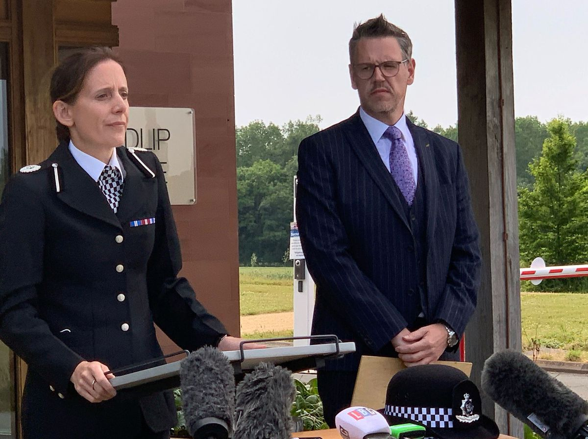 Assistant Chief Constable Rachel Jones and Police and Crime Commissioner John Campion