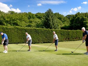 Golf clubs are allowed to play four balls again. Pictured at Wrekin Golf Club are Martin Sankey, David Dudley, Albert Dakin and Terry Brentnall.
