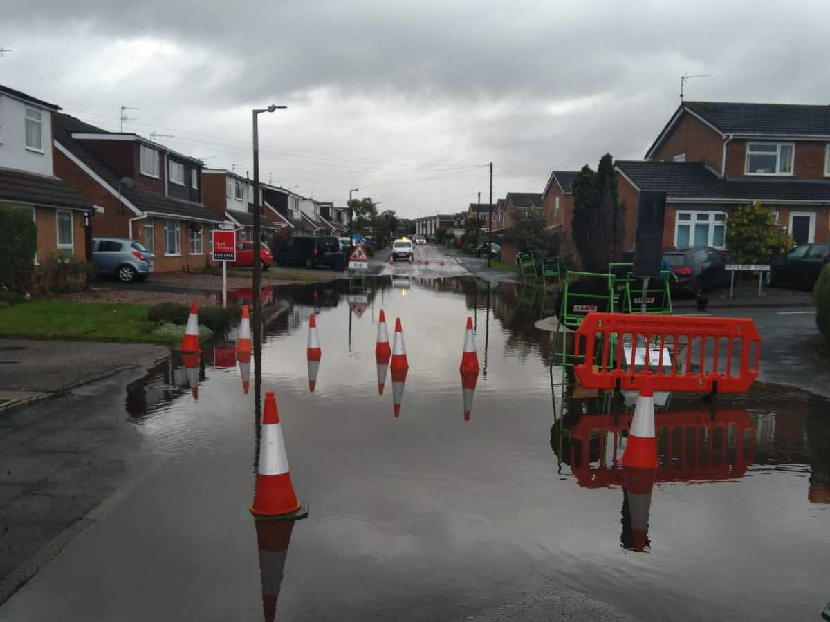Flooding at Boughey Road