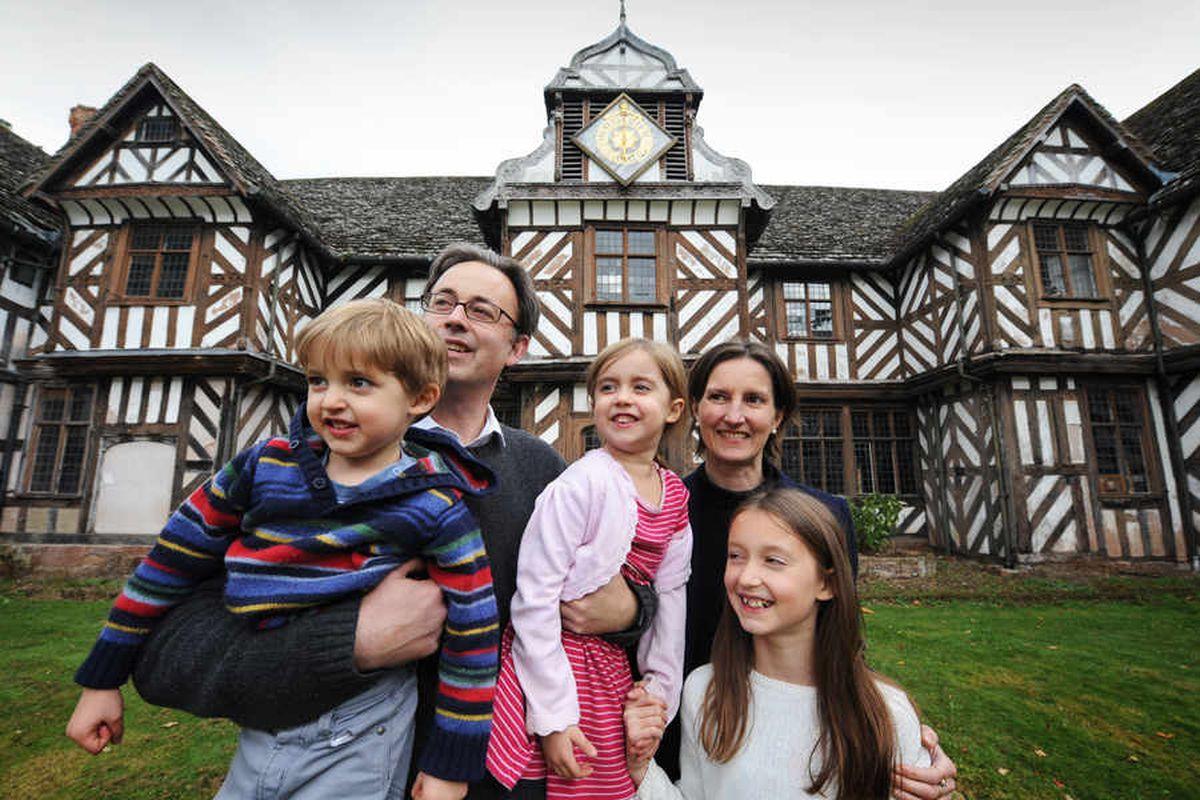 Rowena Colthurst and her husband James Nason, with their children Edward, four, Sarena, five, and Georgiana, 11