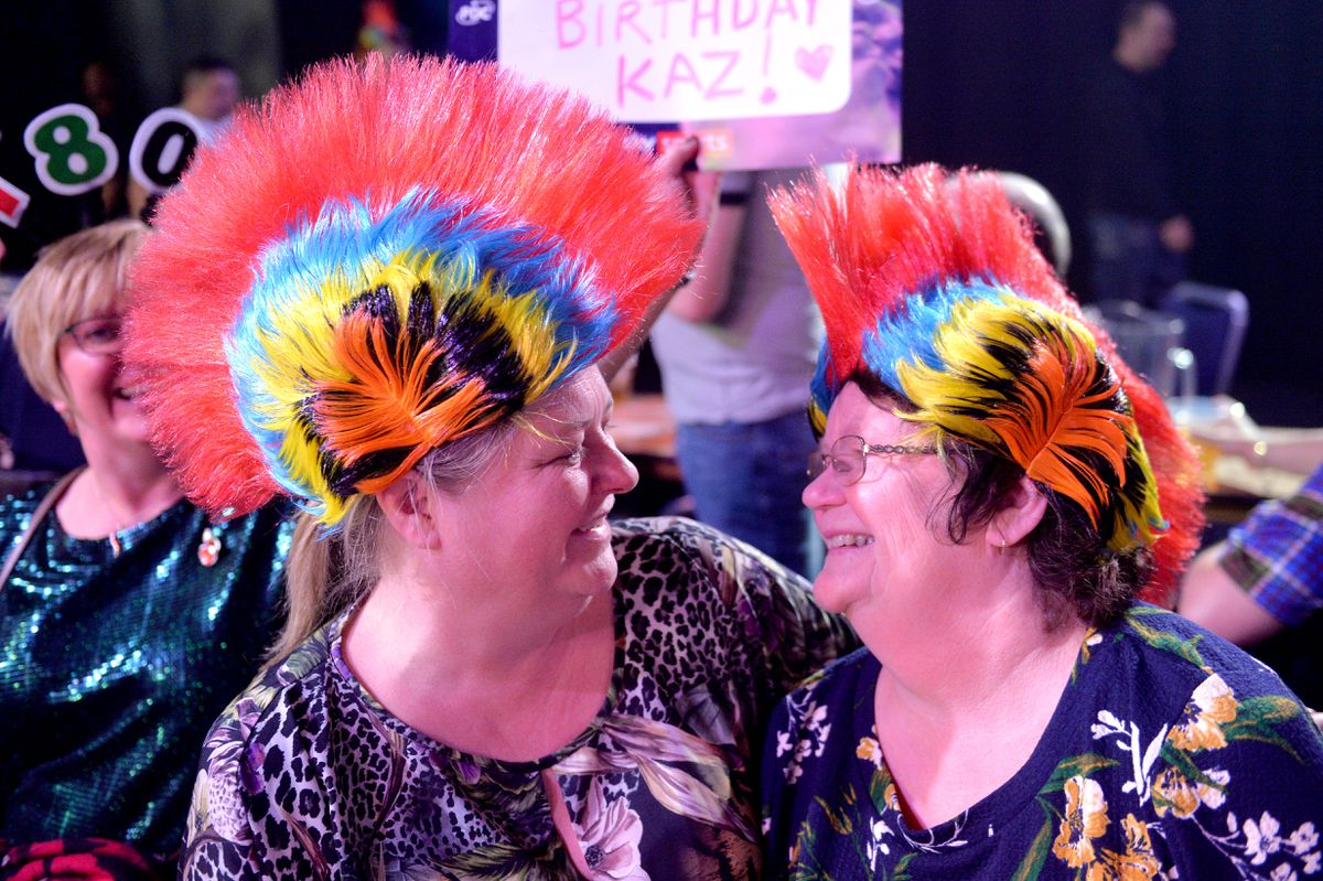 Paula Davidson and Pauline Sutton, from Cannock, turned out for the event.