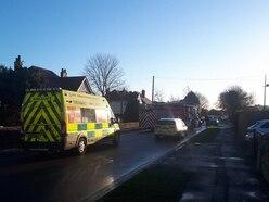 Newport road closed after crash
