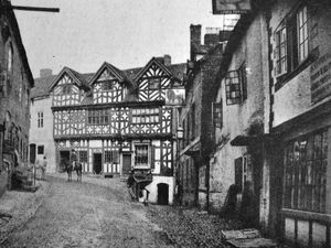 The Magpie, near right, with the Lion Inn beyond leading up to Bishop Percy's House in Cartway.