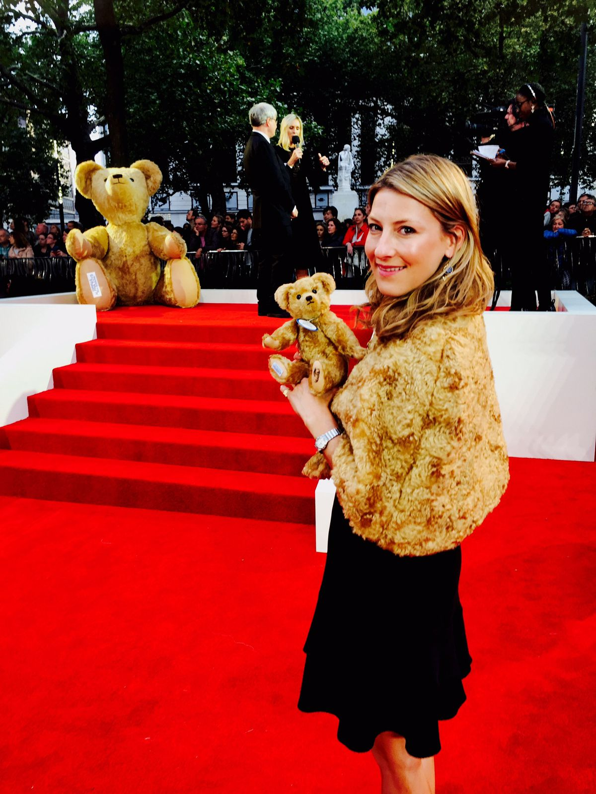 Sarah Holmes at the premier in London on Wednesday night