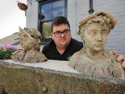 Statues of tragic children returned to Bridgnorth beer garden