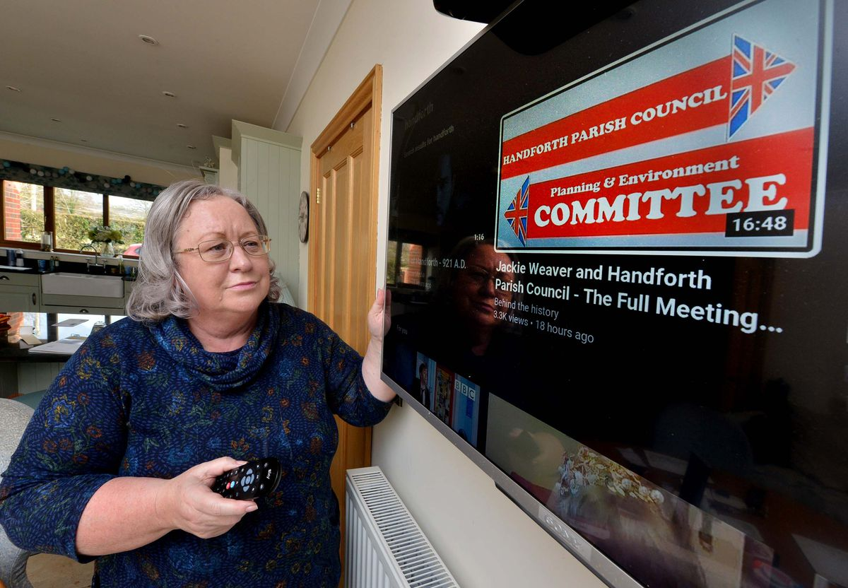 Jackie Weaver has hit internet stardom after hosting a meeting online for Handforth Parish Council