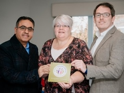 Telford care home awarded plaque for community work